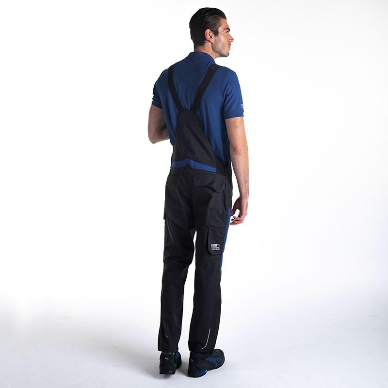 Salopette de Travail Bicolore Noir et Bleu Homme métier BTP PUMA WORKWEAR