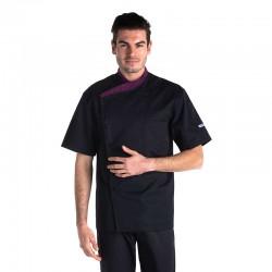 veste de cuisine violette manhattan