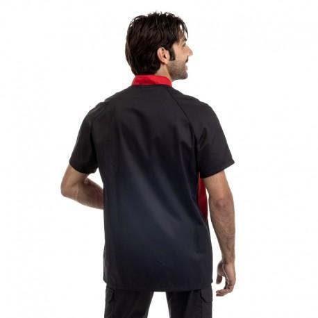 Veste de boucher noire duo de couleurs