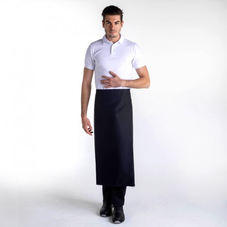 Tablier Noir Long Chef 90cm