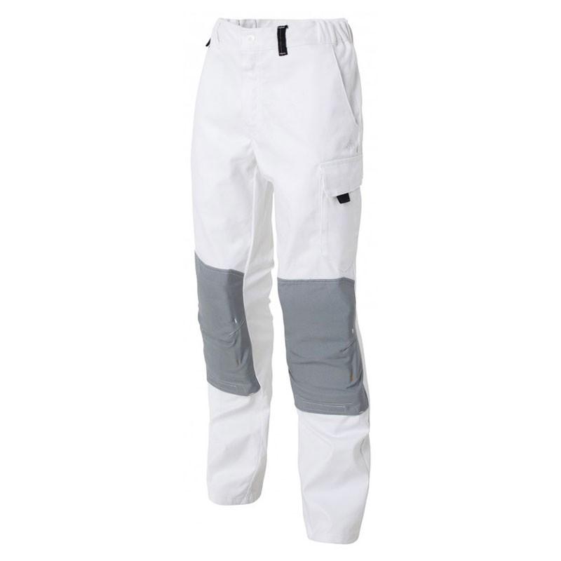 Pantalon de Travail Hygrovet et Genouillères Coton Blanc MOLINEL