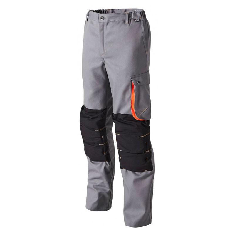 Pantalon de Travail Genouillère G-ROK Gris et Orange MOLINEL
