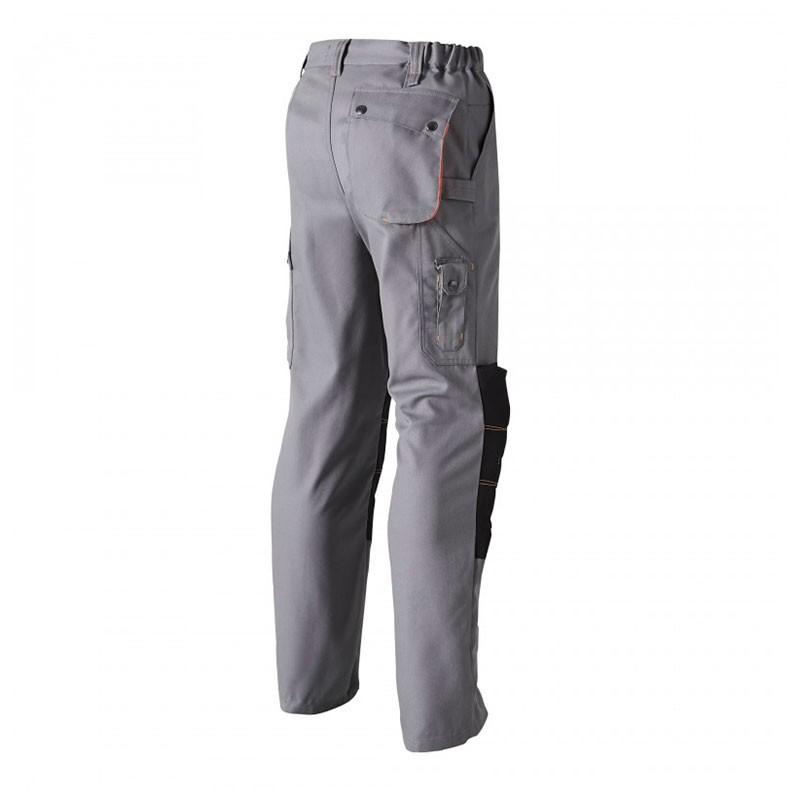 Pantalon de Travail Genouillère G-ROK Gris et Orange MOLINEL pour artisans gros oeuvre ou encore BTP