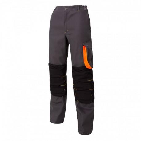 Pantalon de Travail Genouillère G-ROK Carbone et Orange MOLINEL
