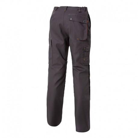 Pantalon de Travail Genouillère G-ROK Carbone et Orange MOLINEL artisans et gros oeuvre