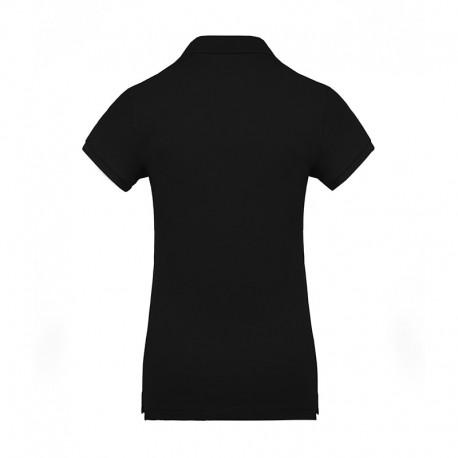 Polo de femme 100% coton bio noir