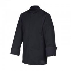 vestes de cuisine siaka noir manches longues