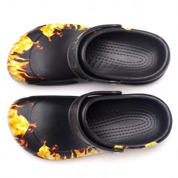 Sabots Crocs™ Bistro Flammes détail boucle modulable