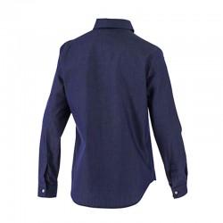 Chemise de service femme jean denim bleu cuisine