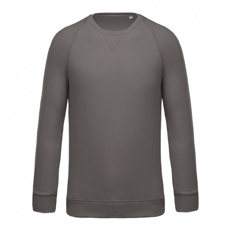 Sweat-Shirt Bio Col Rond Homme Gris TOPTEX