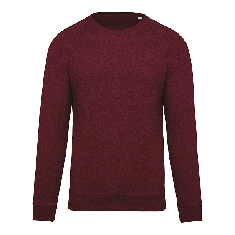 Sweat-Shirt Bio Col Rond Homme Bordeaux TOPTEX
