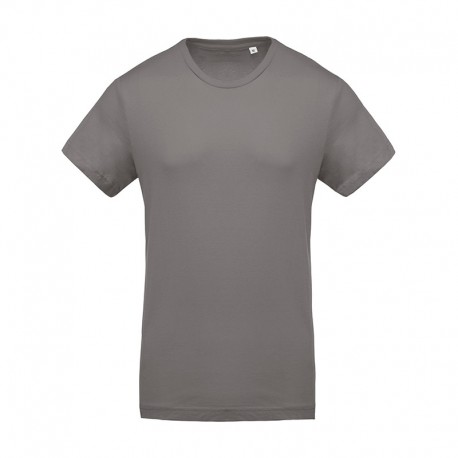 T-shirt de Travail Gris 100% Coton Bio Col Rond Homme TOPTEX