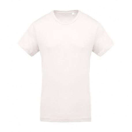 T-shirt de Travail Beige 100% Coton Bio Col Rond Homme TOPTEX