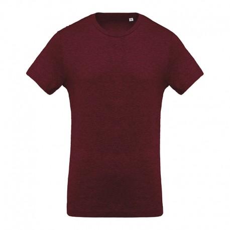 T-shirt de Travail Bordeaux 100% Coton Bio Col Rond Homme TOPTEX