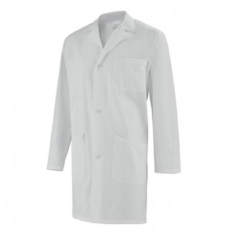 Blouse Médicale Manches Longues 100% Coton Blanc Clemix by Lafon