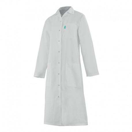 Blouse Médicale Longue Femme Alix Manches Longues 100% Coton Blanc  Clemix by Lafont