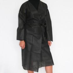 Kimono Jetable à Usage Unique Noir Manches Longues GM EQUIPEMENT