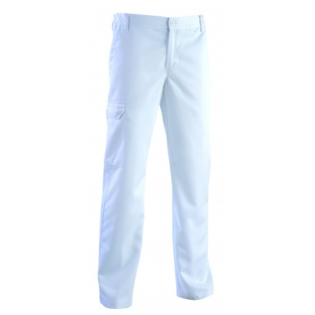 Pantalone da medico per uomo Romeo bianco