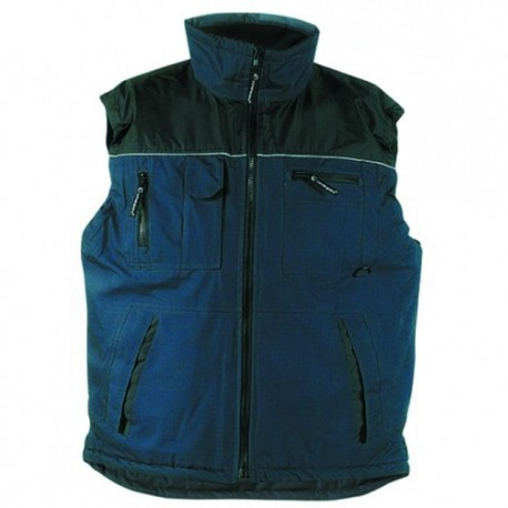 Gilet de travail RIPSTOP multi poches bleu et noir