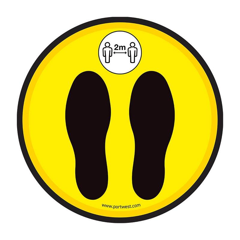 Vinyle de Sol pour Distanciation Sociale Jaune PORTWEST