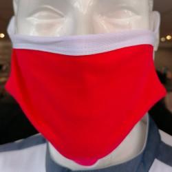 Masques de Protection Tissu 100% Coton et Filtres (Lot de 2) - ITALY rouge