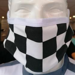 Masques de Protection Tissu 100% Coton et Filtres (Lot de 2) - ITALY damier