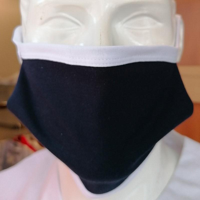 Masques de Protection Tissu 100% Coton et Filtres (Lot de 2) - ITALY Bleu marine