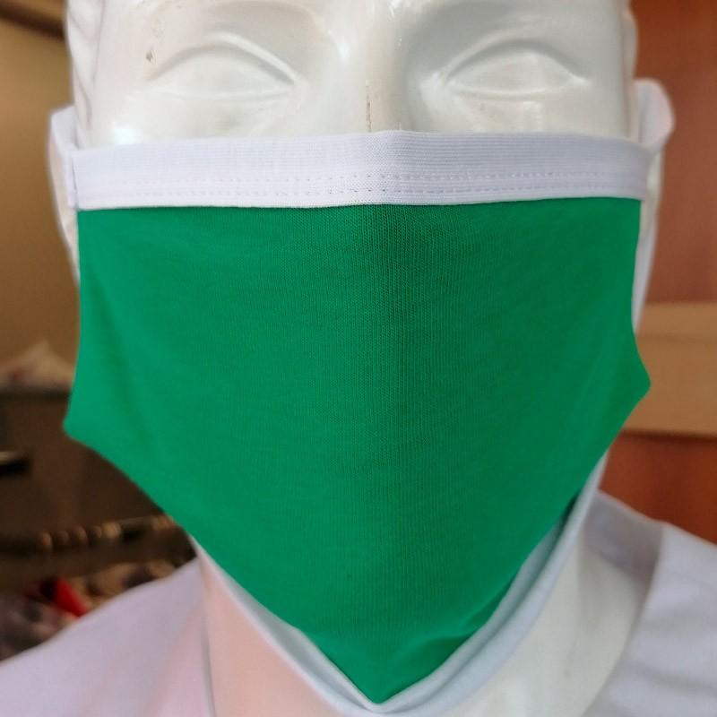 Masques de Protection Tissu 100% Coton et Filtres (Lot de 2) - ITALY Vert