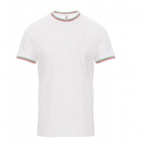 Tee-Shirt blanc col italien - Payperwear