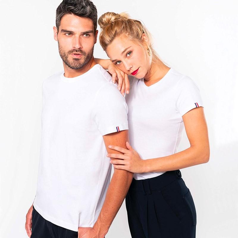 T-shirt de Travail Blanc BIO Femme Made in France TOPTEX