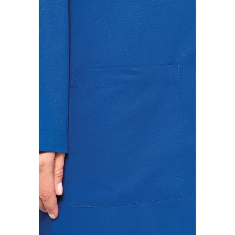 Blouse bleu pour artisan en coton