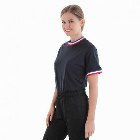 Tee-shirt de travail col tricolore France Payperwear