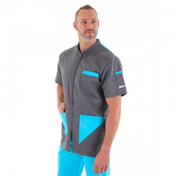Blouse medicale proches turquoises manelli