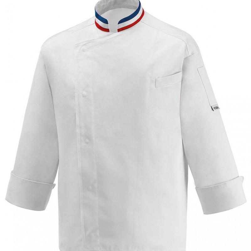 Veste de cuisine mof grande taille 5xl au 7xl for Veste de cuisine brodee