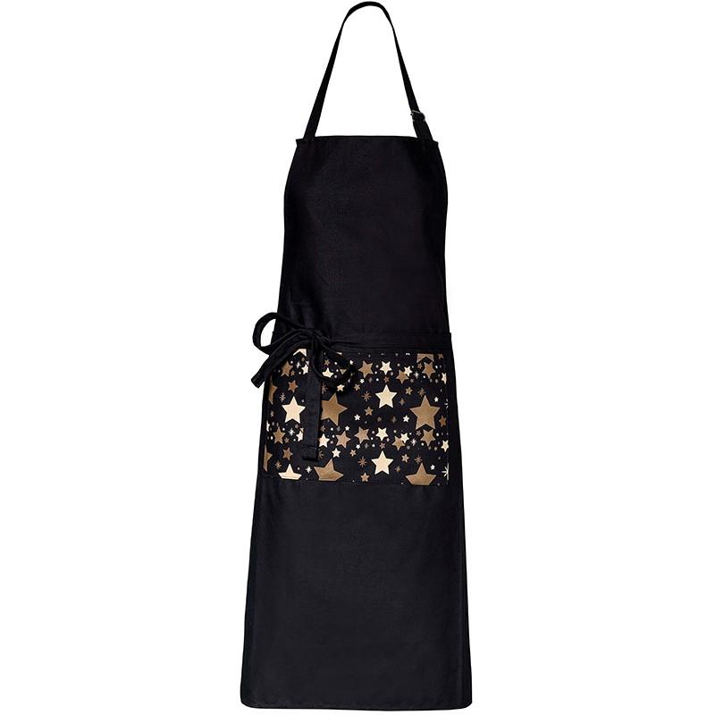 tablier de cuisine noir toptex modele enfant