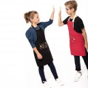 tablier enfant rouge ou noir motif etoiles