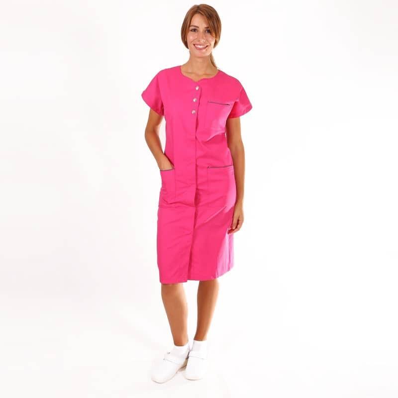 blouse de travail femme rose Manelli