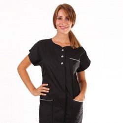 blouse médicale Valia noire Manelli