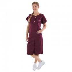 blouse de travail femme bordeaux