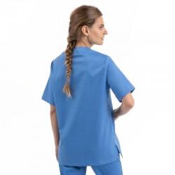tunique medicale mixte bleu Manelli