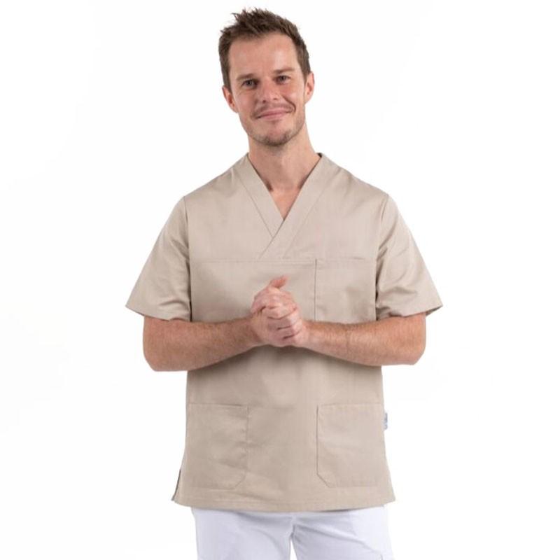 tunique medicale mixte beige