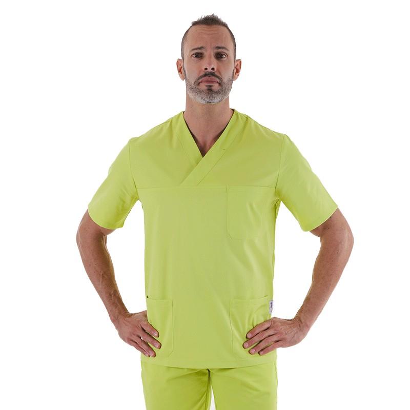 tunique medicale mixte vert anis Manelli