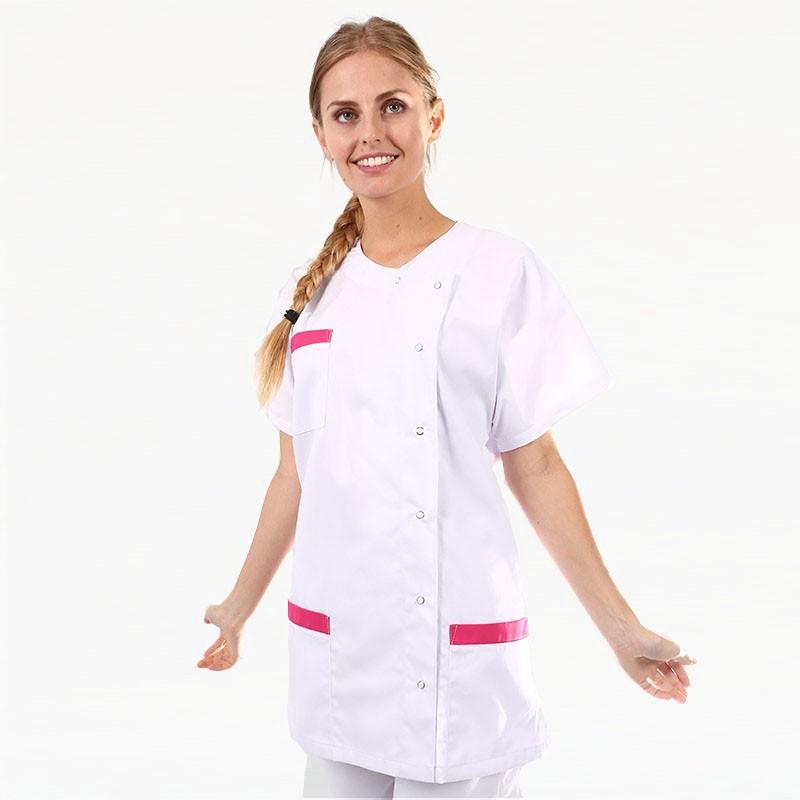 Blouse Médicale Asymétrique poches - MANELLI - Rose