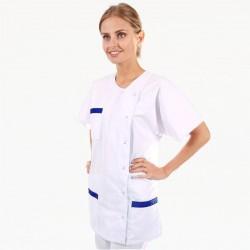 Blouse Médicale Asymétrique poches - MANELLI - Bleu Marine