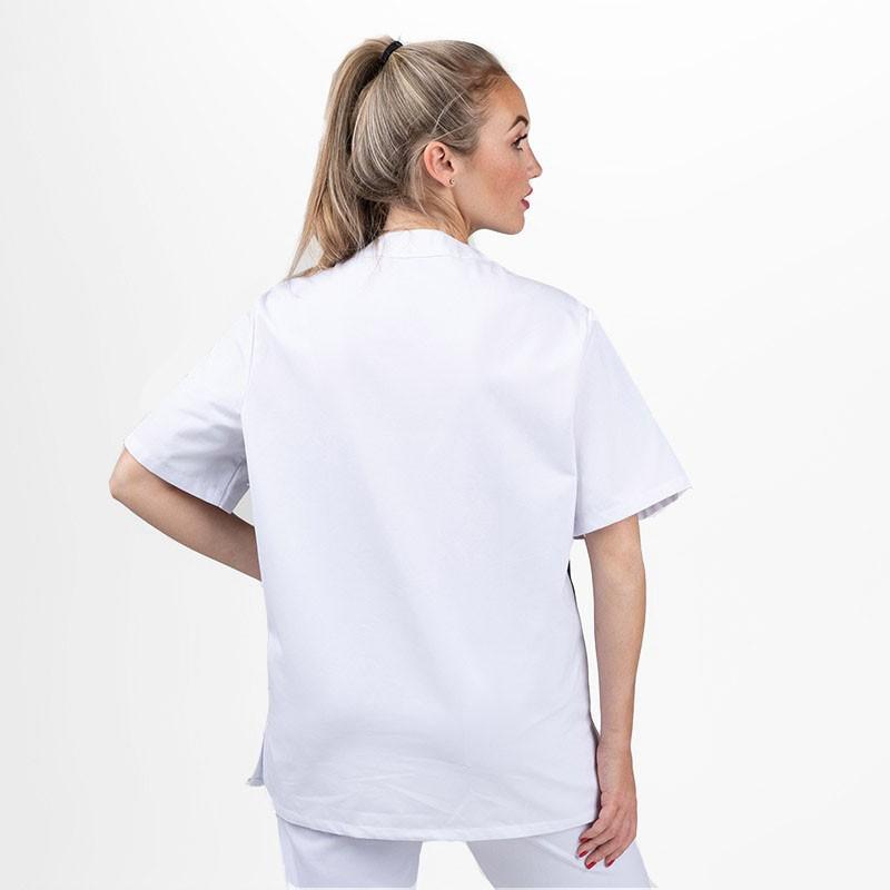 Blouse médicale mixte blanche et bleu ciel destockage - MANELLI