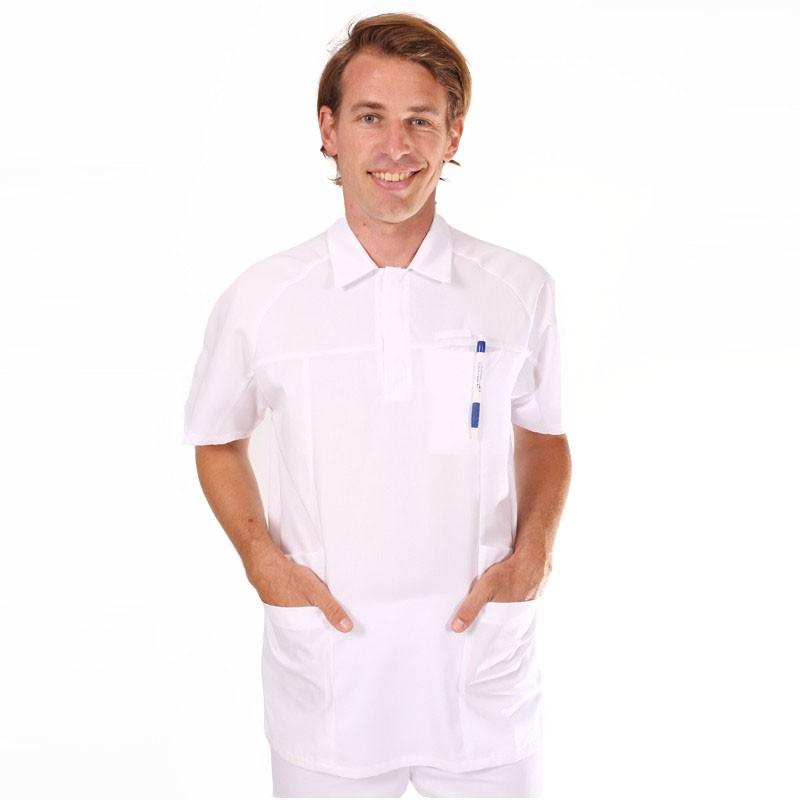 Tunique médicale homme blanche 2LUC