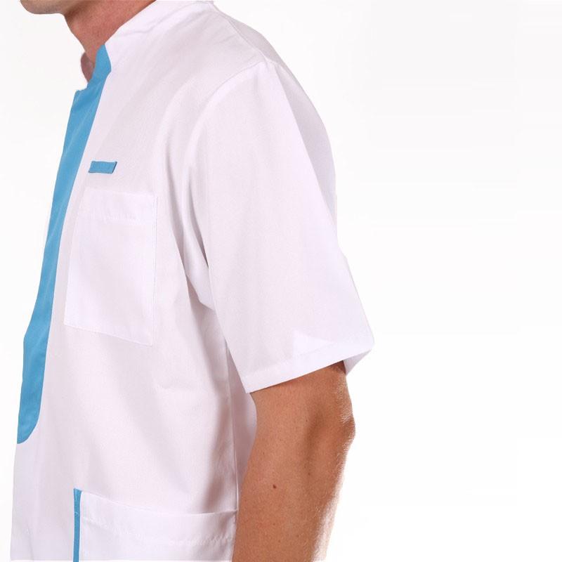blouse medicale Lafont empiecement bleu ciel