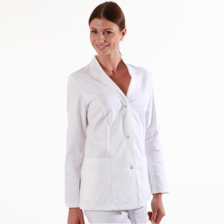 Blouse Médicale Blanche 100% Coton manches longues hommes femmes promotions