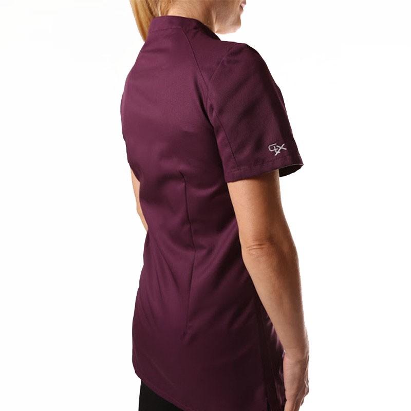 Blouse médicale 2SAN violet femmes promo manshe courtes