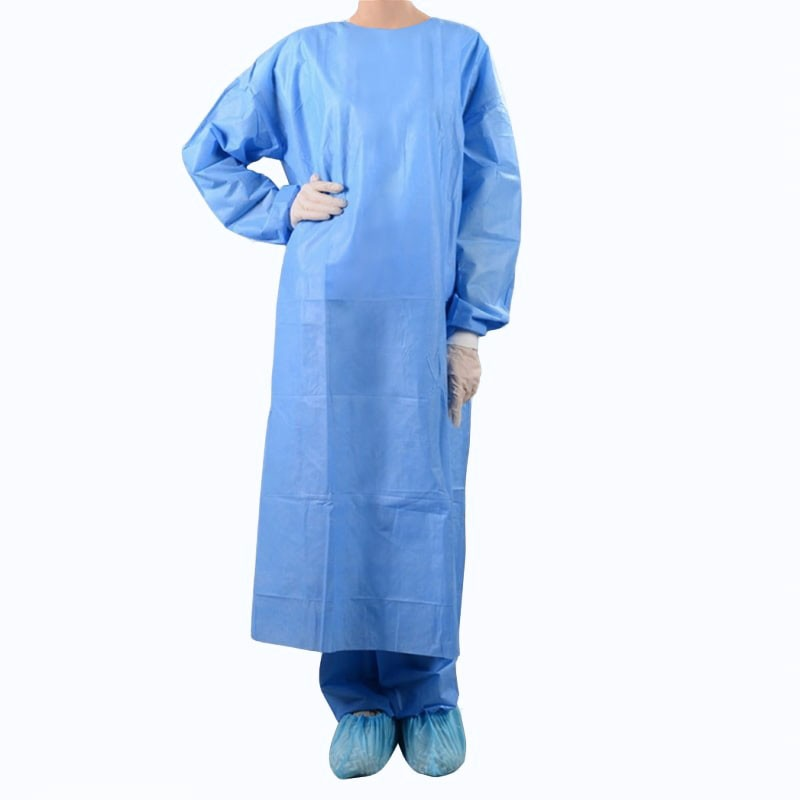 Surblouse médicale Jetable bleue en PP (lot de 50 pcs)